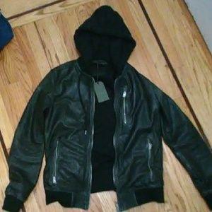 AllSaints Leather Bomber Jacket NEW!!!